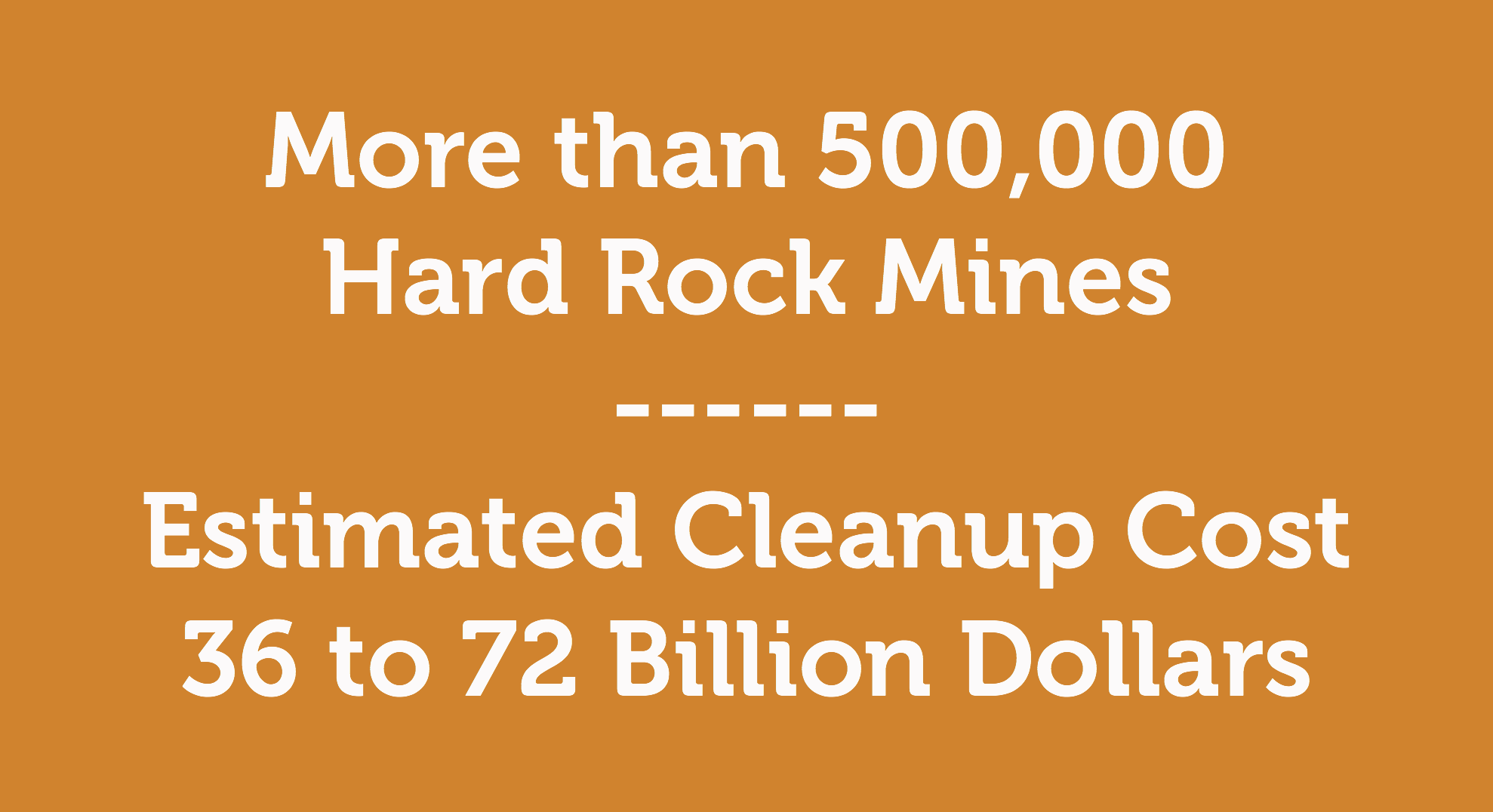 More than 500,000 Hard Rock Mines in the West